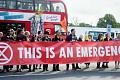 فضائی آلودگی کے بحران کے خلاف احتجاج، ختم ہونے والے بغاوت لندن میں رش گھنٹ ٹریفک کا دورہ کرتا ہے