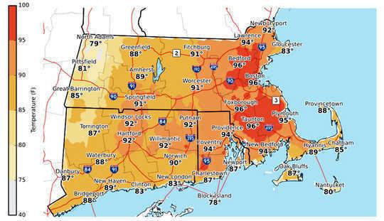 Le mois de juillet le plus chaud de la Nouvelle-Angleterre est une prise de conscience du changement climatique