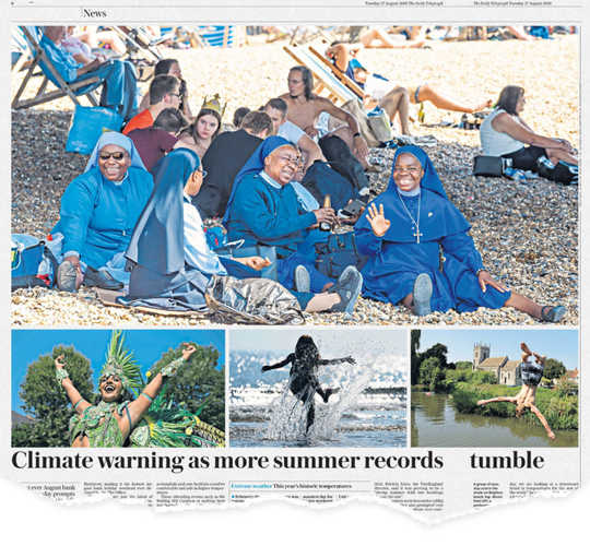 كيف يمكن أن تمثل صور الموجة الحارة في وسائل الإعلام مخاطر المناخ بشكل أفضل