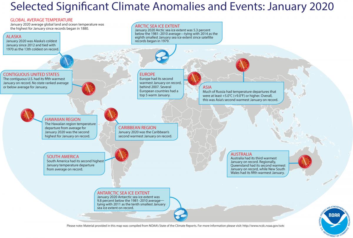 Az Antarktisz hőmérséklete felszáll 69 ° F-ra, a NOAA jelentése szerint a múlt hónap volt a világ legforróbb januárja a rekordon