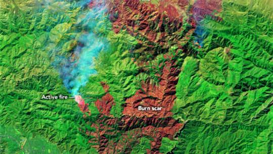 5 van Kalifornië se 6 grootste brande op rekord brand nou