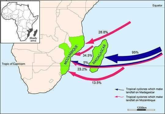 טמפרטורות הים העולות יוצרות סערות טרופיות בדרום אפריקה