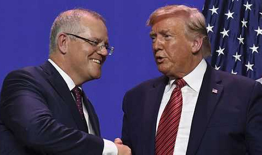 澳大利亞總理莫里森承諾將抵制氣候抵制