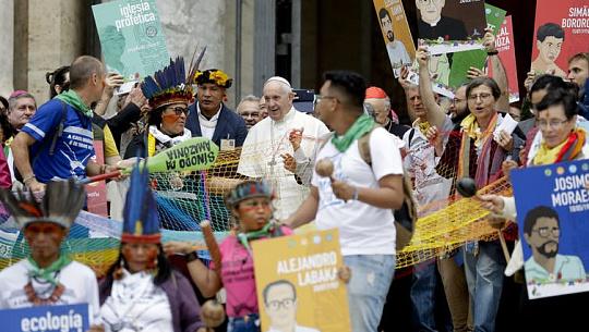 교황, 기후 위기로 인해 원주민 아마존 주민들에게 가톨릭 교회의 의무 확인