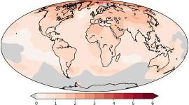 Den globala uppvärmningen varierar mycket beroende på var du bor