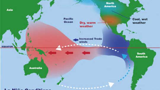 کاهش خشکسالی و سیل در حال حاضر بیشتر احتمال دارد که تغییرات آب و هوایی با آب و هوای اقیانوس آرام روبرو شود